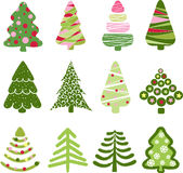 Christmas set tree. Elements for design Stock Images