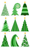 christmas set trees 圣诞快乐的被隔绝的传染媒介例证 库存照片