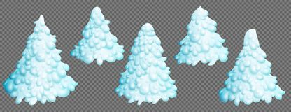 christmas set trees διανυσματική απεικόνιση