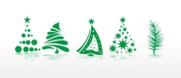 Christmas set of trees Stock Photo