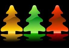 christmas set trees Стоковое фото RF
