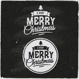 Christmas Set Of Typographic Design Stock Image