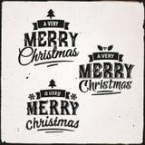 Christmas Set Of Typographic Design Stock Photography