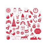 Christmas Set. With various symbols and objects Stock Images