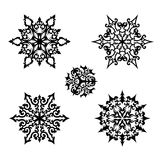 Christmas set: vector decorative snowflakes Royalty Free Stock Photography