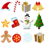 Christmas Set vector. Christmas elements icon set vector Royalty Free Stock Photography