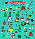 Christmas set. Vector icons. Christmas decorations tags for creative design Stock Illustration