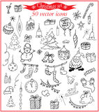 Christmas set. Vector icons. Christmas decorations tags for creative design Vector Illustration