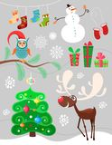 Christmas set. Vector Illustration of a christmas set Stock Photo