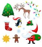 Christmas set. Vector Illustration of a christmas set Royalty Free Stock Photos