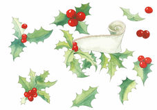 Christmas set vector Royalty Free Stock Photography