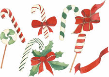 Christmas set vector Stock Image