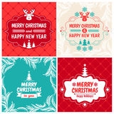 Christmas Set for vintage greeting card Royalty Free Stock Photos