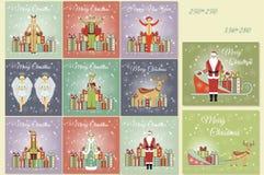 Christmas Set of Web Banners. Stock Photo