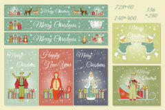Christmas Set of Web Banners. Stock Photography