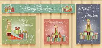Christmas Set of Web Banners. Stock Image