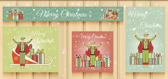 Christmas Set of Web Banners. Royalty Free Stock Images