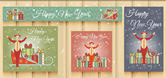 Christmas Set of Web Banners. Royalty Free Stock Photos
