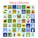 Christmas Set. On the white background. Vector illustration Stock Image