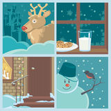 Christmas Set With Holiday Symbols 2 Royalty Free Stock Images