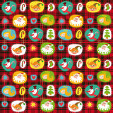 Christmas Set, Wrapping Paper, Plaid Tartan Stock Photography
