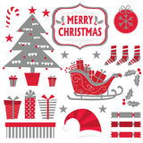Christmas sets collection Royalty Free Stock Images
