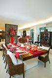 Christmas setting Table series #1. Lovely table setting for christmas Royalty Free Stock Image