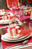 Christmas setting Table series #1. Detail in the table setting for christmas time Stock Photo