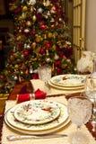 Christmas Setting and Tree Royalty Free Stock Photos