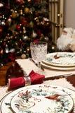 Christmas Setting With Tree And Santa Stock Photo