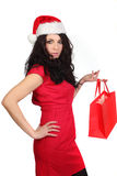 Christmas sexy woman Stock Images