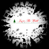 Christmas Shadow background. Vector Illustration, EPS 10 Royalty Free Stock Photo