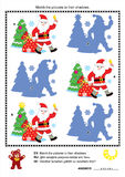 Christmas shadow game with Santa Claus Royalty Free Stock Photography