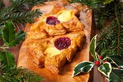 Christmas shape pastry Stock Image