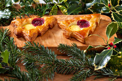 Christmas shape pastry Stock Photography