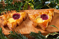 Christmas shape pastry Stock Photo