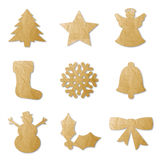 Christmas shapes Stock Photography