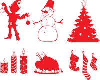 Christmas shapes Royalty Free Stock Photography