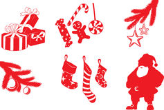 Christmas shapes Stock Photos