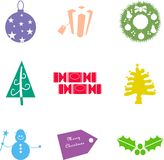 Christmas shapes vector illustration