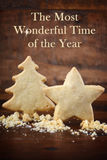 Christmas shapes shortbread cookies. Royalty Free Stock Images