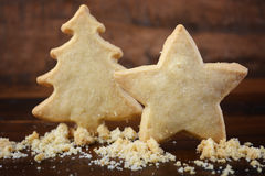 Christmas shapes shortbread cookies. Stock Image