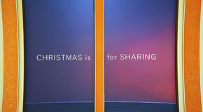 Christmas is for sharing royalty free stock image