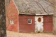 Christmas Shed Stock Photo