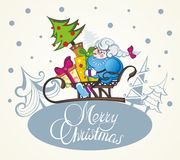 Christmas sheep.Christmas background. Merry Christmas illustration with cute sheep royalty free illustration