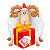 Christmas sheep Royalty Free Stock Photo