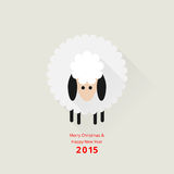Christmas sheep greeting card Royalty Free Stock Photo