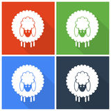 Christmas sheep icons Royalty Free Stock Photos