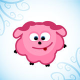 Christmas sheep pink. Christmas sheep, pink for girls. Card 2015. vector format Stock Photography