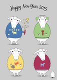 Christmas sheeps Royalty Free Stock Photography